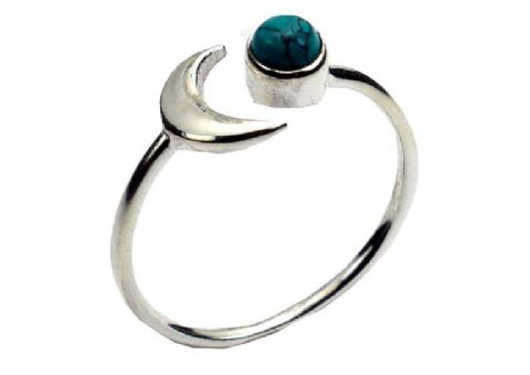 ADJUSTABLE Moon Celestial Ring ~ Sterling Silver
